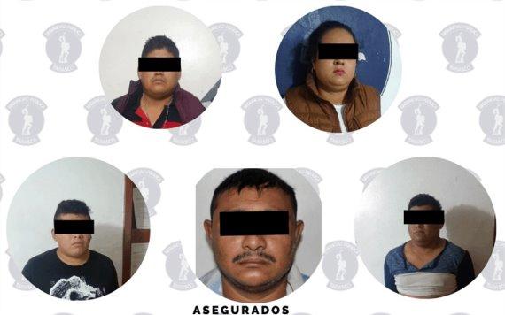 Detienen a 5 personas por robo de vehículo con violencia en pandilla