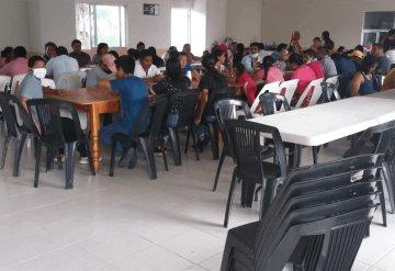 Al menos 40 familias se albergan en la casa cultural Carlos Pellicer