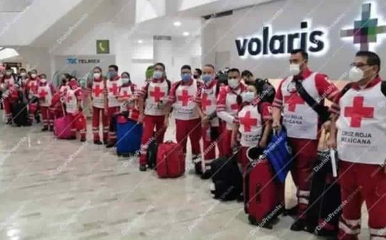 Especialistas de Cruz Roja Mexicana llegan para ayudar a damnificados de Tabasco