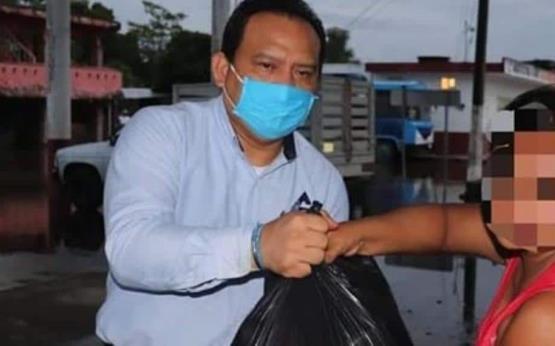 Hasta Nacajuca llegó la ayuda enviada por la representación de Canaco en Ciudad del Carmen, Campeche