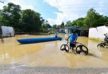 En Gaviotas Sur y Torno Largo por tercera vez están inundados