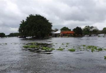 Alertan a habitantes por inundación en Jonuta