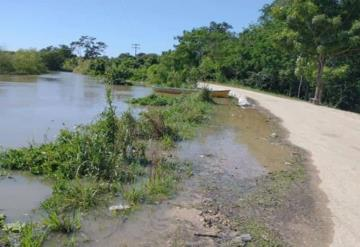 Zonas perteneciente al municipio de Jonuta Tabasco en alerta máxima