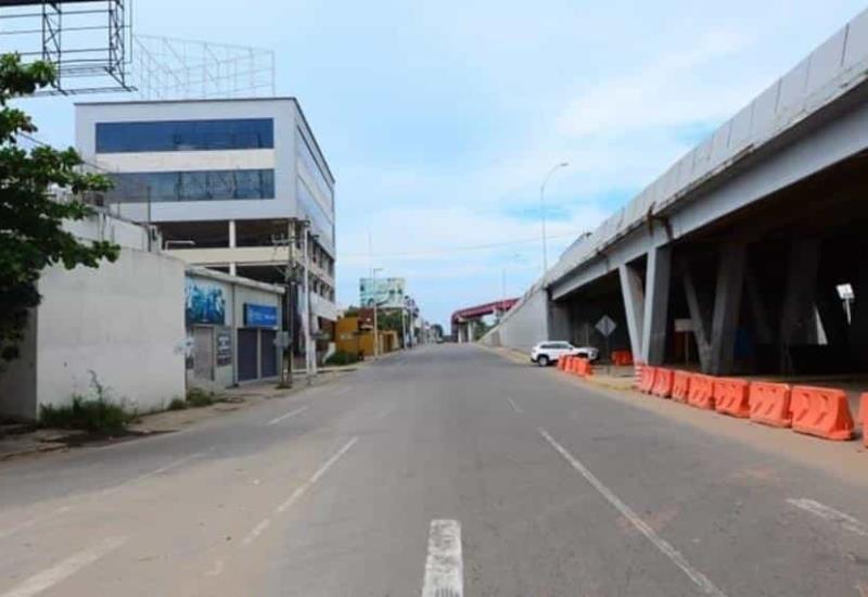 Así se encuentran las principales avenidas este primero de enero del 2021 en Villahermosa