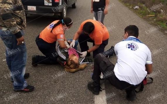 Atropellan a mujer en la Villahermosa-Teapa