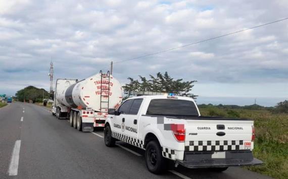 Guardia Nacional incauta 42 mil litros de huachicol en Huimanguillo