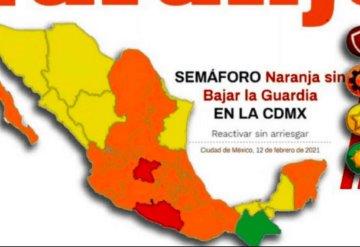CDMX y Estado de México regresan a semáforo naranja