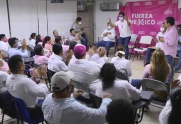"""Vamos a vestir de rosa a Tabasco"" recalcó Fuerza por México"