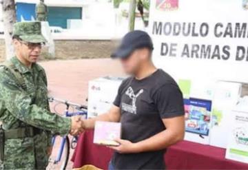 Para el registro de armas, el Ejército Mexicano abre módulos en Tabasco y Chiapas