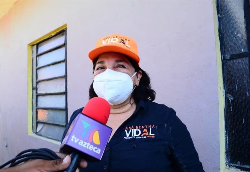 La candidata por el partido MC, Ana Bertha Vidal Focil buscará invertir en agua potable