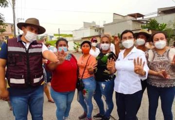 La candidata a la alcaldía de Centro por Morena, Yolanda  Osuna Huerta  recorrió el Fraccionamiento Estrella de Buena Vista