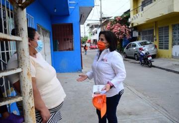 La candidata por el partido Movimiento Ciudadano Ana Bertha Vidal Focil en entrevista de radio especificó las problemáticas que ha detectando en 15 día