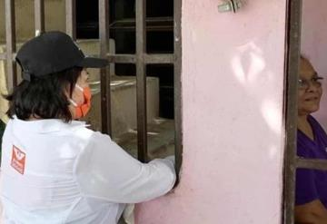 La candidata a la alcaldía de Centro por MC Ana Bertha Vidal Focil recorrió la zona de la Manga II para conocer las necesidades de la zona
