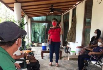 La Candidata a centro Martha Osorio recorrió el poblado Dos Monte