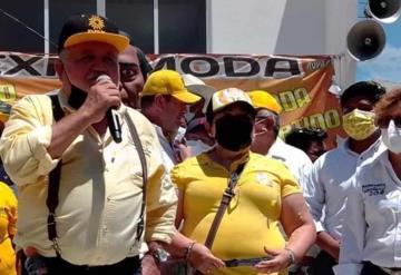 En Jonuta Francisco Filigrana por el PRD cerro campaña, asegura que ganará el 6 de junio