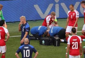 La Eurocopa se detuvo en el minuto 44 después de que un jugador se desplomara en el campo de juego