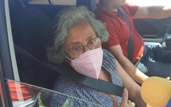 Doña Lucía Gallegos Rodas estuvo en el Centro de Procuración de Justicia para conocer la situación de Samuel