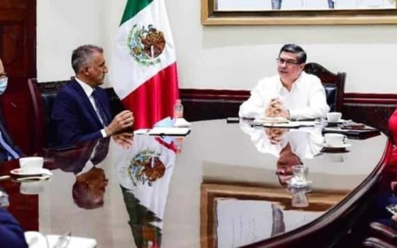 Sostiene De la Vega Asmitia reunión con directivos de la empresa ENI México