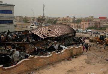 Sube a 64 los muertos por un incendio en un hospital COVID-19 en Irak