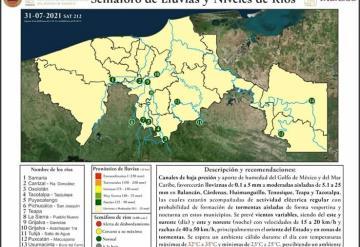 Se mantiene pronóstico de lluvias moderadas en algunos municipios: IPCET
