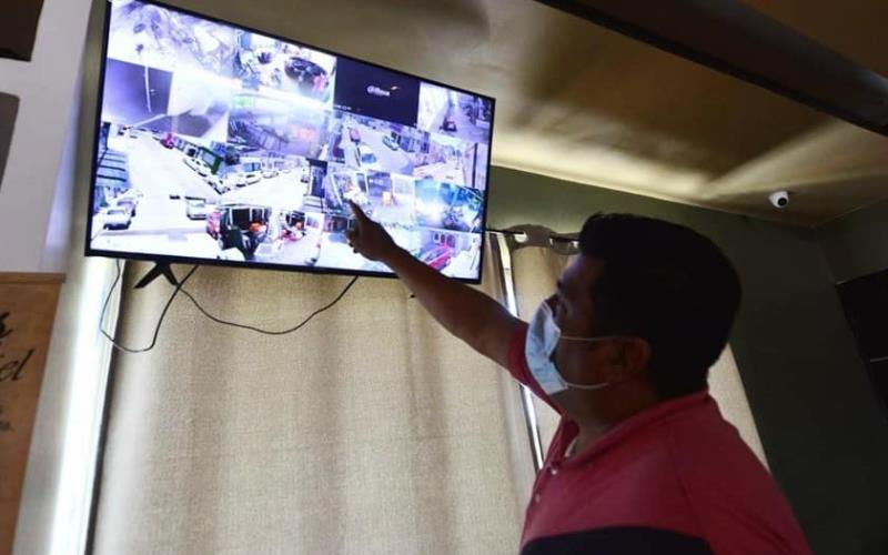 Con cámaras de seguridad y diferentes puntos de monitoreo refuerzan seguridad en
