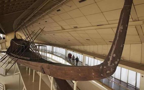 """Trasladan al Gran Museo de Egipto """"La barca solar de faraón Keops"""""""