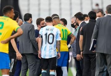 Suspenden partido Brasil-Argentina por violaciones al protocolo sanitario de COVID-19