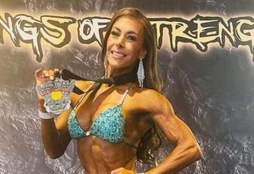 Vanessa Guzmán gana tercer lugar en campeonato profesional de fisicoculturismo