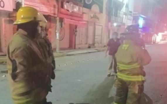 Cuerpos contra incendios se movilizaron esta noche hacia las inmediaciones de la zona del mercado