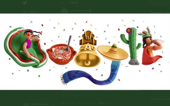 Google celebra la Independencia de México en su Doodle