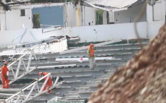 Un avance superior del 30 por ciento, es el que se tiene en la demolición del Parque Centenario del 27 de Febrero