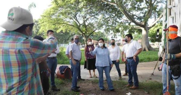 Alcaldesa de Centro llevo a cabo la supervisión de los trabajos de limpieza de drenes y canales naturales que tiene Villahermosa