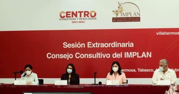 Toma protesta como titular del consejo consultivo IMPLAN la alcaldesa de Centro Yolanda Osuna Huerta